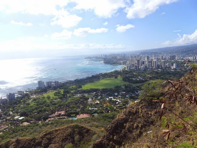 Blick vom Diamond Head Crater