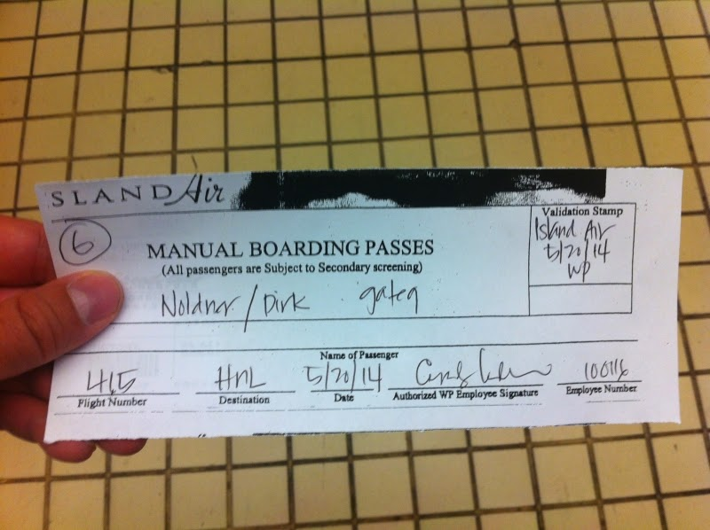 Manual Boarding Pass
