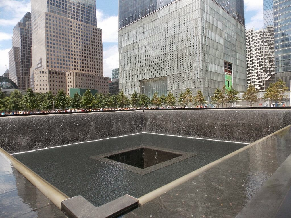 Brunnen auf der Flaeche von ehem. World Trade Center